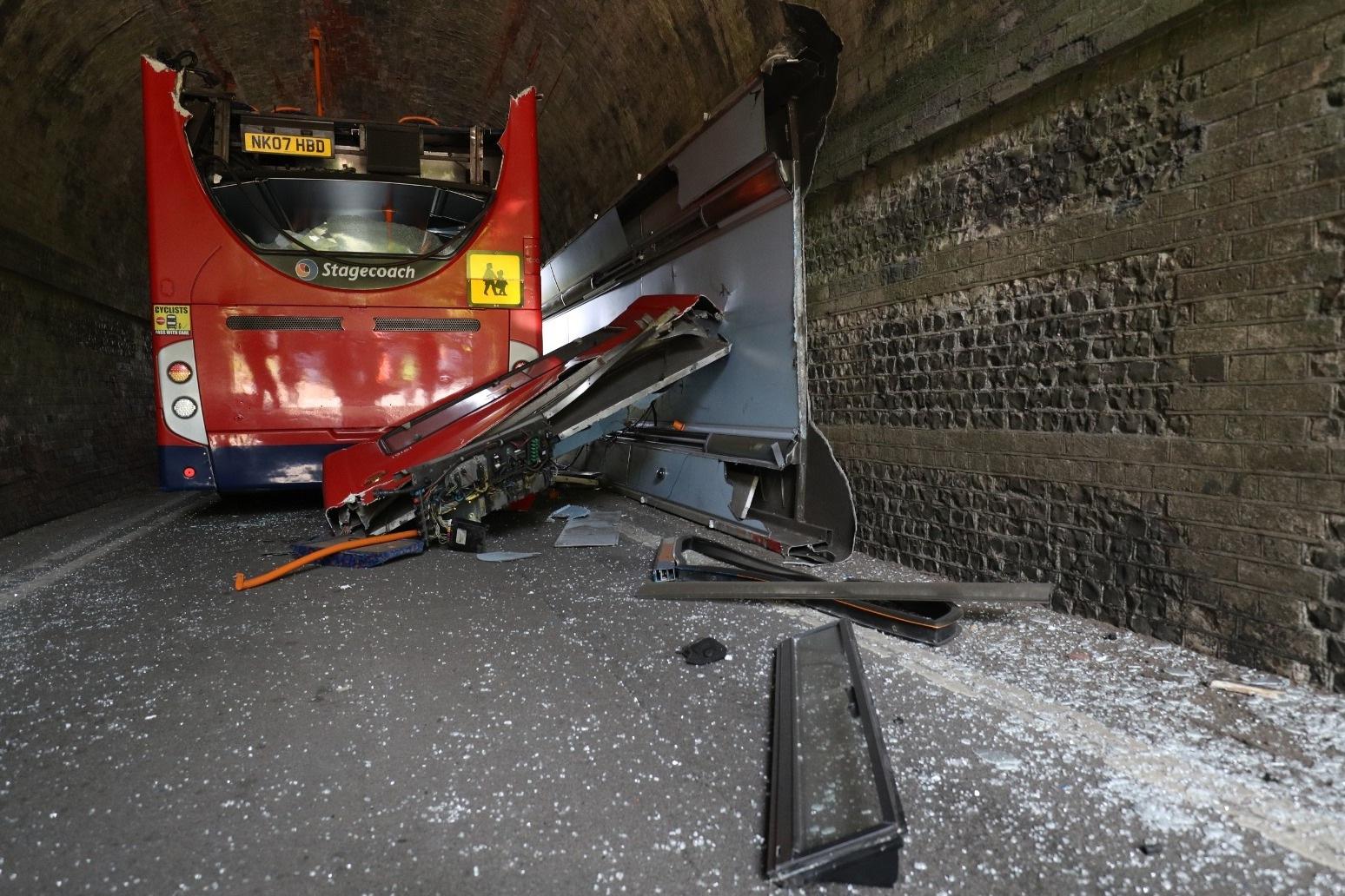 Three children injured in school bus crash in Winchester
