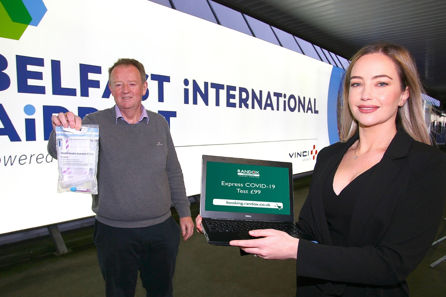 Walk-in testing facility opened at Belfast International Airport